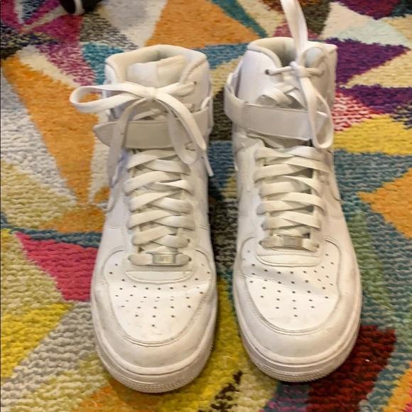 Men's Nike Air Force one men's high top sneakers.